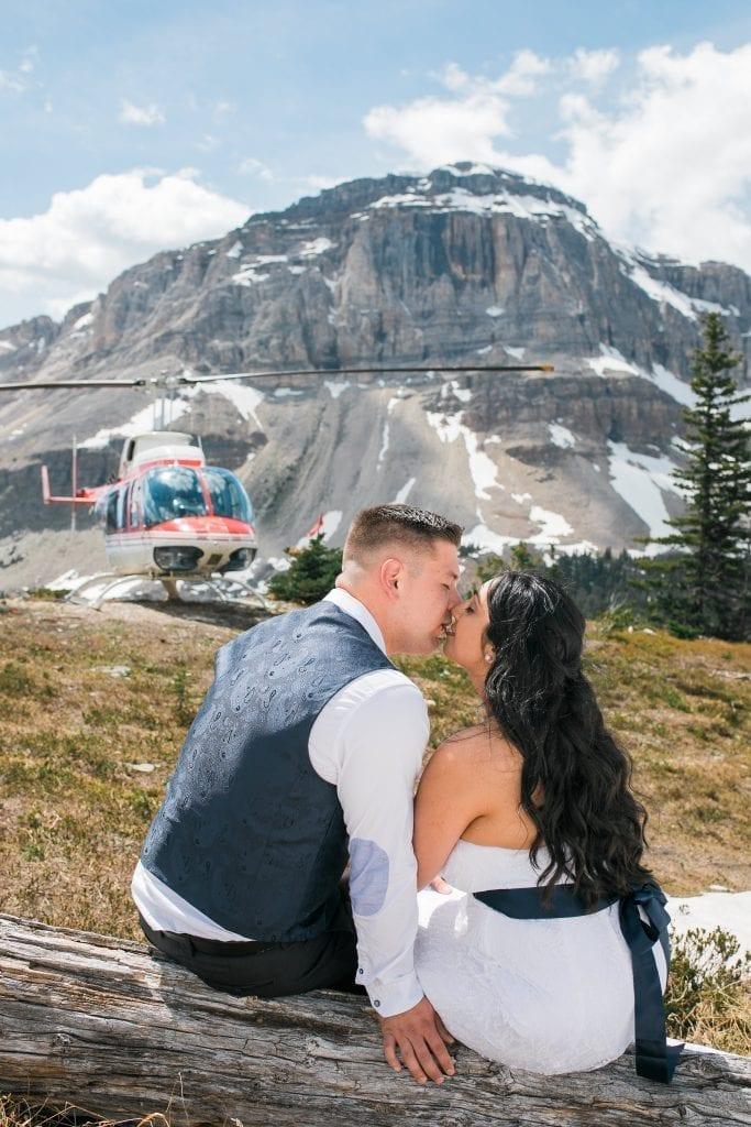 Helicopter, Elopement, Photographer, Banff, Canmore, Calgary, Edmonton, Canada
