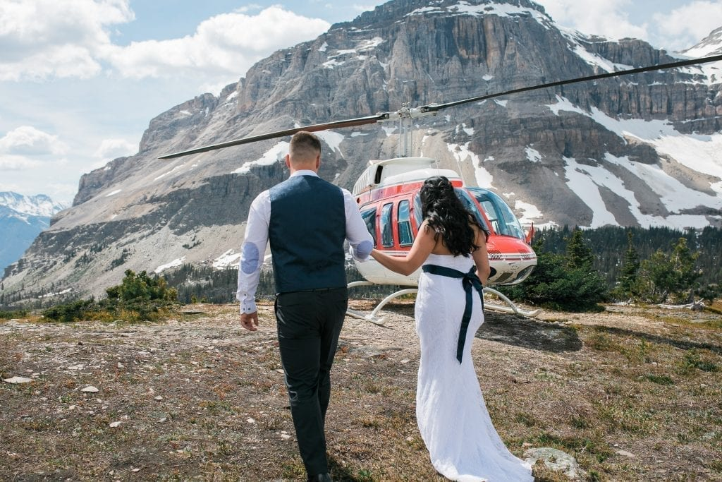 Canmore Helicopter Elopement, Alberta, Banff Wedding Photographer
