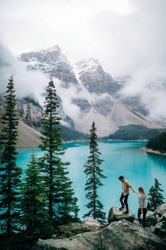 Moraine lake Engagement session