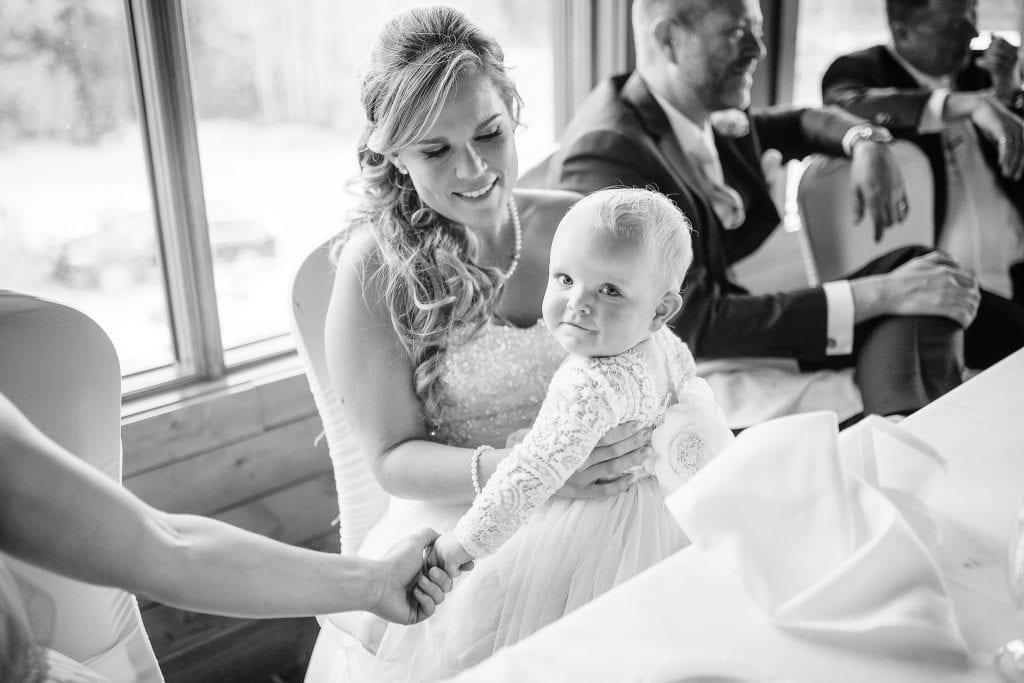 Cutest guest at a jasper wedding