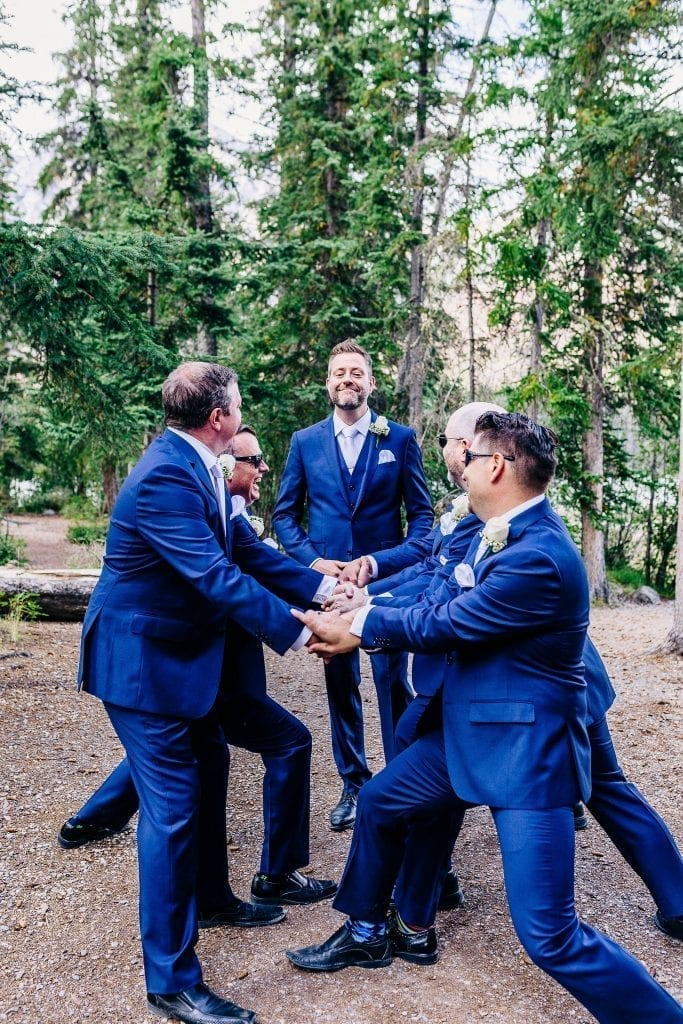Groom and his friends having fun