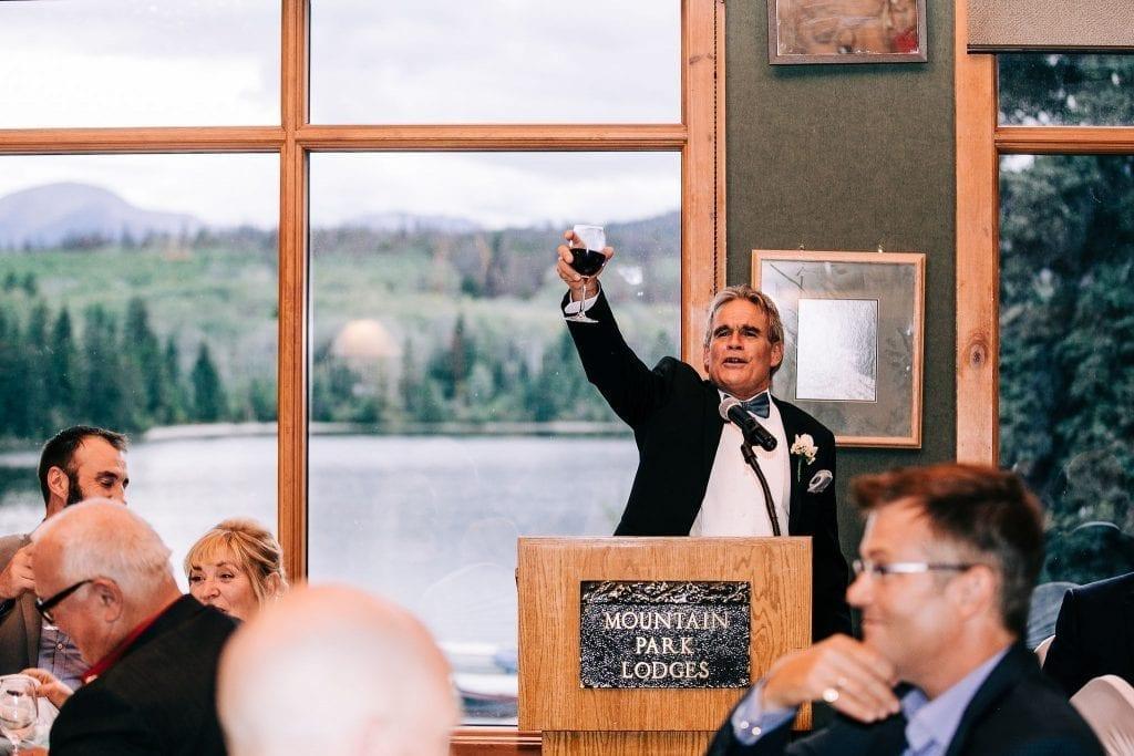 Toast to the newlyweds in Jasper Wedding