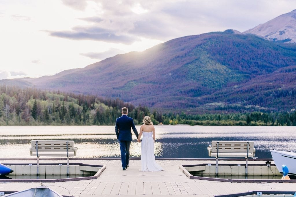 Stunning Sunset on Pyramid lake Bride and Groom photos