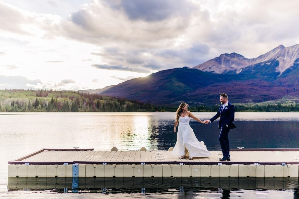 Stunning Sunset on Pyramid lake Bride and Groom photos