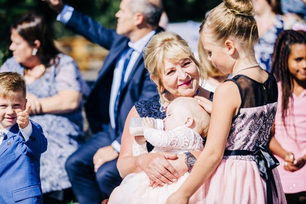 Family enjoying the ceremony in Jasper