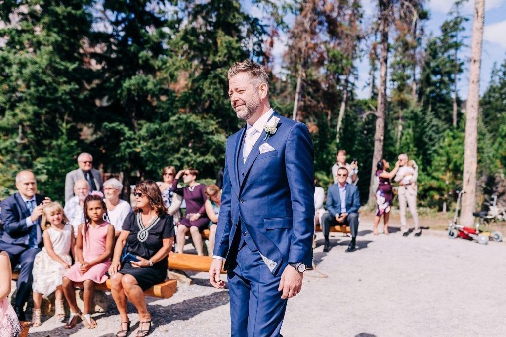 Groom arriving at his Wedding Ceremony in Jasper