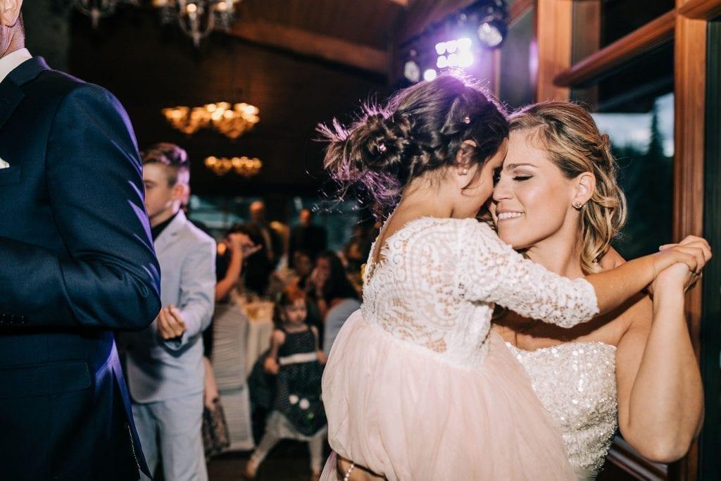 Bride dancing happy