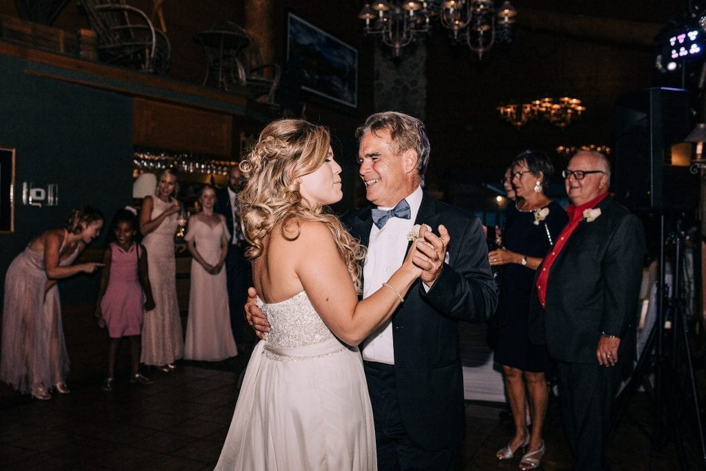 Bride and her dad during first dance