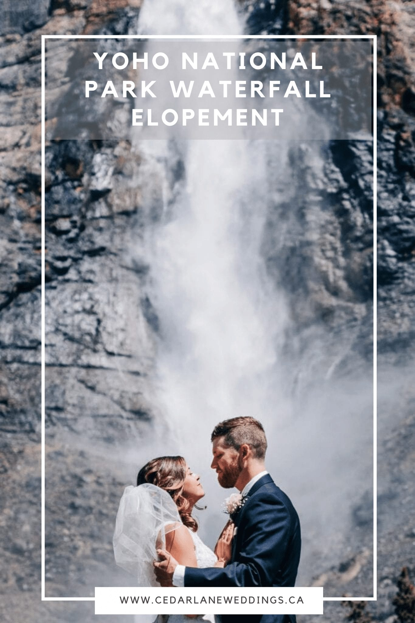 Yoho National Park Waterfall Elopement