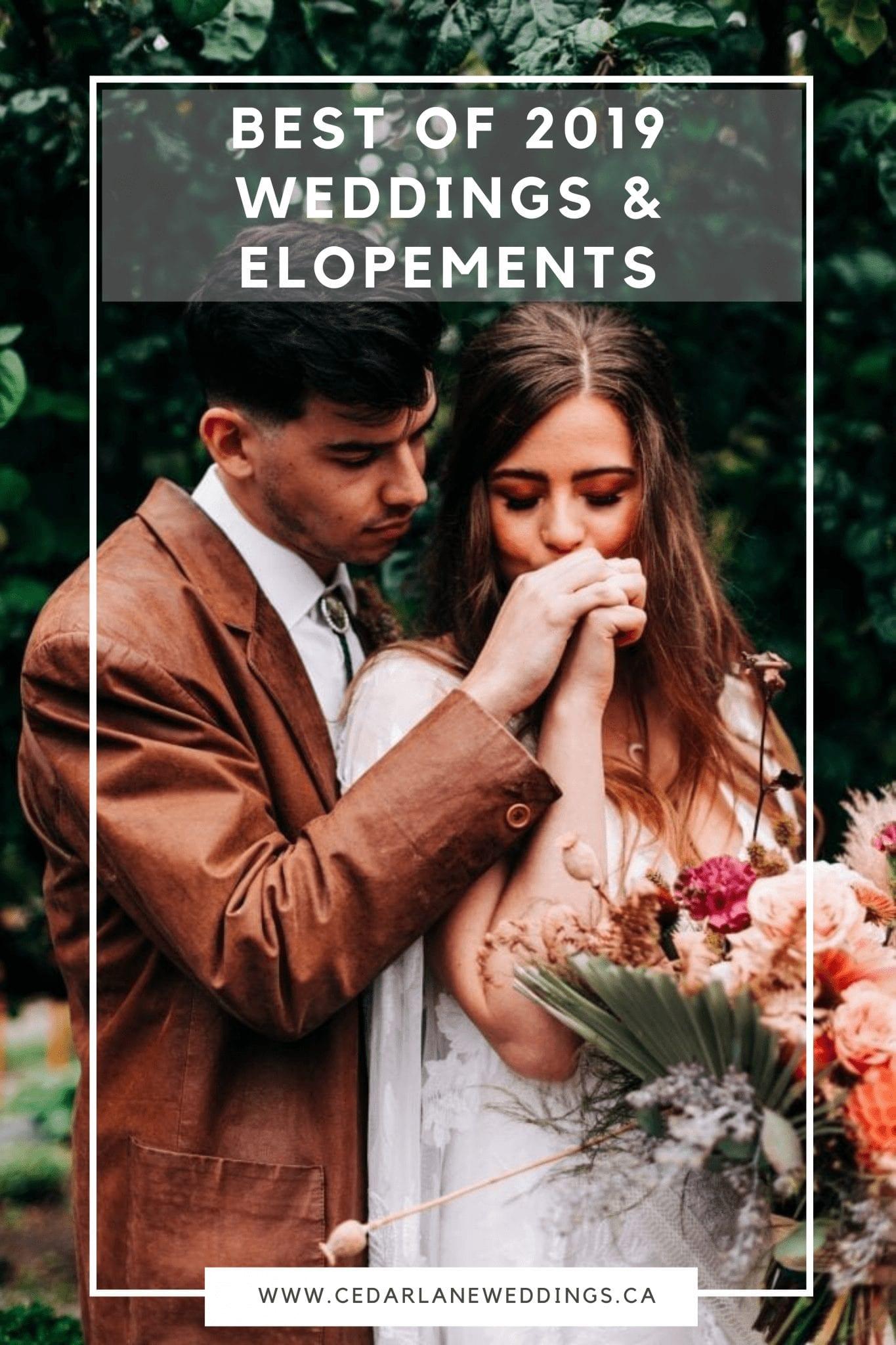 Best of 2019 Weddings & Elopements