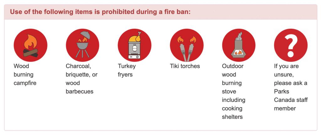 Alberta Fire Ban regulations