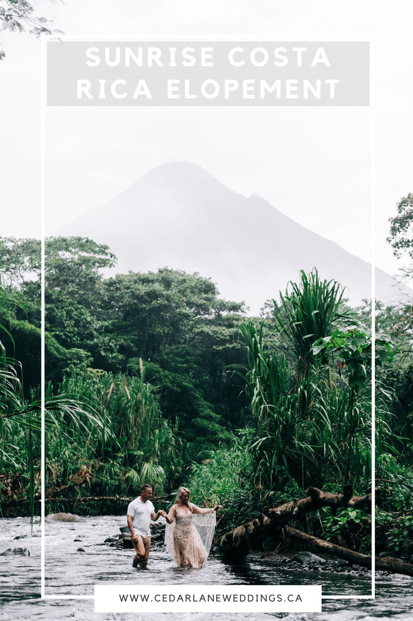 Sunrise Costa Rica Elopement Adventure