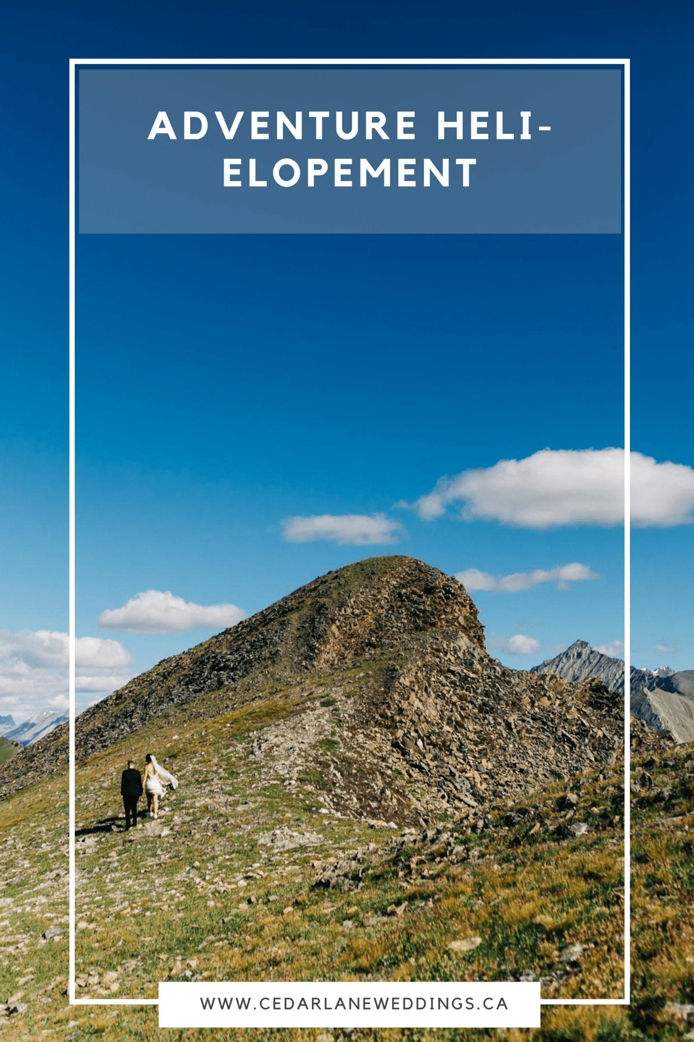 Banff Heli-Elopement | Adventure Elopement Photographer Nordegg