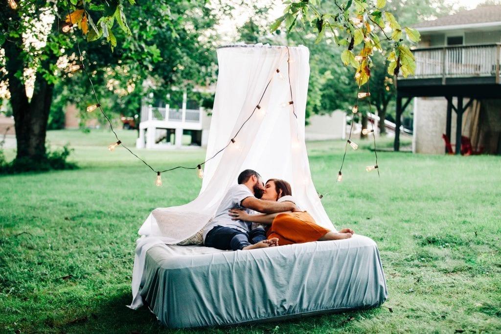 Backyard Intimate Couple Session