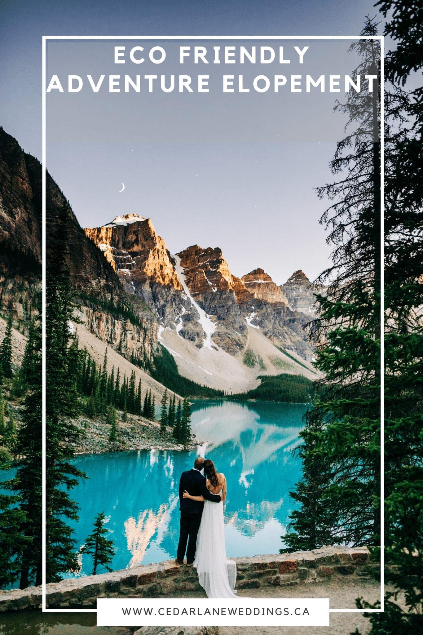 Lake Louise Elopement | Eco Friendly Adventure Elopement